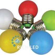 Лампа для Белт-лайта Е27, 1 Вт, d=45 мм, RGB
