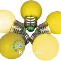 Лампа для Белт-лайта Е27, 1 Вт, d=45 мм, ЖЕЛТАЯ