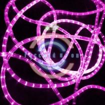 Светодиодный дюралайт 2-х проводной, розовые диоды