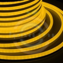 Гибкий неон LED (светодиодный) - желтый, бухта 50м
