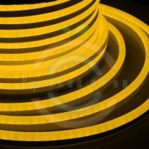 Гибкий неон - LED Neon Flex. постоянное свечение. Световая подсветка. Цвет желтый, 16*26мм.