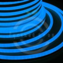 Гибкий неон - LED Neon Flex. постоянное свечение. Световая подсветка. Цвет синий, 16*26мм.