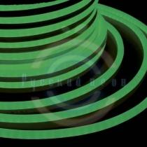 Гибкий неон - LED Neon Flex. постоянное свечение. Световая подсветка. Цвет зеленый, 16*26мм.