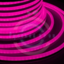 Гибкий неон LED, розовые диоды, бухта 50м