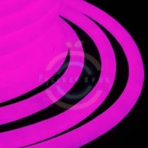 Гибкий неон LED 360 (круглый), розовые диоды, бухта 50м