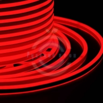 Гибкий неон LED SMD, компактный 7х12мм, двусторонний, красные, 120 LED/м, бухта 100м