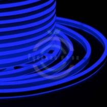 Гибкий неон LED SMD, компактный 7х12мм, двусторонний, синие, 120 LED/м, бухта 100м