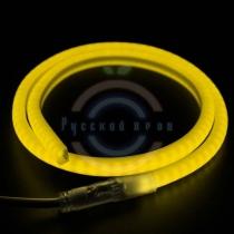 Гибкий неон LED SMD, форма - D, жёлтый, 120 LED/м, бухта 100м