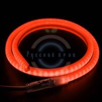 Гибкий неон LED SMD, форма - D, красные, 120 LED/м, бухта 100м