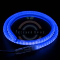 Гибкий неон LED SMD, форма - D, синие, 120 LED/м, бухта 100м