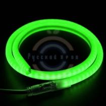 Гибкий неон LED (светодиодный) SMD, форма - D, зелёный, 120 LED/м, бухта 100м
