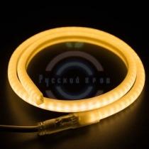 Гибкий неон LED SMD, форма - D, тёплый белый, 120 LED/м, бухта 100м