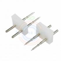 Разъем-иглы для соединения гибкого неона 15х26мм на шнур/коннектор
