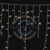 Гирлянда светодиодная бахрома «Айсикл», 1,8х0,5м, белый провод, 230 В, диоды синие, 48 LED