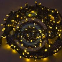 Гирлянда «Твинкл Лайт» 20м, черный каучук, 240 диодов, цвет желтый