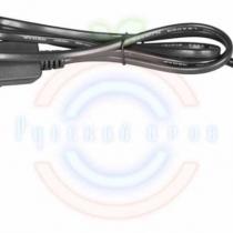 Комплект подключения для гирлянд с постоянным свечением 230В / 4А, цвет провода: черный, IP65