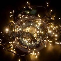 Гирлянда модульная светодиодная «Дюраплей LED» 20м 200 LED черный каучук, мерцающая «Flashing« (каждый 5-й диод), тепло-белая