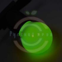 Лампа шар e27 3 LED Ø45мм - зеленая