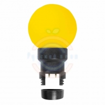 Лампа шар 6 LED для белт-лайта, цвет:жёлтый, Ø45мм, жёлтая колба
