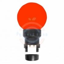 Лампа шар 6 LED для белт-лайта, цвет:красные, Ø45мм, красная колба