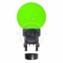 Лампа шар 6 LED для белт-лайта, цвет:зелёный, Ø45мм, зелёная колба