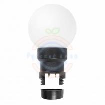 Лампа шар 6 LED для белт-лайта цвет: Белый Ø45мм матовая колба