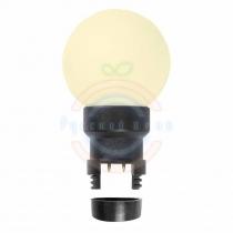 Лампа шар 6 LED вместе с патроном для белт-лайта, цвет:тепло-белые, Ø45мм, белая матовая колба