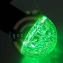 Лампа шар e27 9 LED Ø50мм зеленая