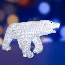 Акриловая светодиодная фигура «Белый медведь» 100х175см, 3872 светодиода, IP 44, трансформатор