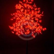 Светодиодное дерево «Клён», высота 2,1м, Ø кроны 1,8м, красные светодиоды, IP 65, трансформатор