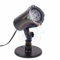 LED проектор, белые снежинки, 220В