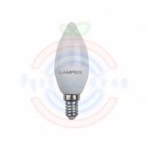 Лампа LED C37 E14 5W 4000K 440Lm 220V STANDARD Lamper