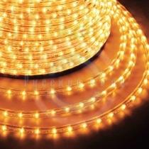Дюралайт LED (светодиодный), постоянное свечение (2W) - желтый Эконом 24 LED/м, бухта 100м