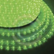 Дюралайт LED (светодиодный), постоянное свечение (2W) - зеленые Эконом 24 LED/м, бухта 100м