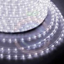 Дюралайт LED (светодиодный), свечение с динамикой (3W) - белый Эконом 24 LED/м, бухта 100м