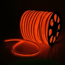 Гибкий неон - LED Neon Flex. постоянное свечение. Световая подсветка. Цвет оранжевый, 16*26мм.