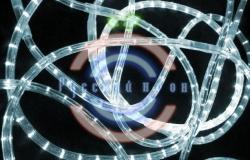 Светодиодный дюралайт 2-х проводной, белые диоды