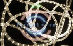 Светодиодный дюралайт 2-х проводной, тепло-белые диоды