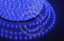 Дюралайт LED (светодиодный), постоянное свечение (2W) - синий, 30 LED/м, бухта 100м