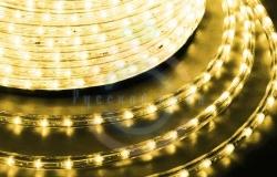 Дюралайт LED (светодиодный), постоянное свечение (2W), 36 LED/м, цвет:Золото, бухта 100м