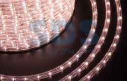 Дюралайт LED (светодиодный), постоянное свечение (2W) - розовое золото, 36 LED/м, бухта 100м