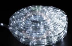 Дюралайт LED (светодиодный), свечение с динамикой (3W), 24 LED/м, белый, 14м