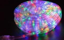 Дюралайт LED (светодиодный), свечение с динамикой (3W), 24 LED/м, мульти (RYGB), 6м