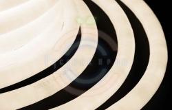 Гибкий неон LED 360 (круглый), тепло-белые диоды, бухта 50м