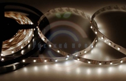 LED лента открытая, 8мм, IP23, SMD 3528, 60 LED/m, 12V, белая