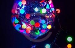 Гирлянда светодиодная «Мультишарики» Ø17,5мм, 20м, черный ПВХ, 200 диодов, цвет RGB, 24В