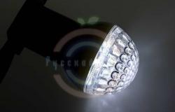 Лампа шар e27 9 LED Ø50мм белая