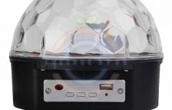 Светодиодная система «Диско-шар» с пультом ДУ и Bluetooth, 230 В