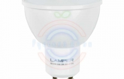 Лампа LED MR16 GU10, 5W 3000K 400Lm 220V Premium Lamper
