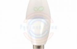Лампа LED C37 E14, 3W 3000K 220Lm 220V Premium Lamper